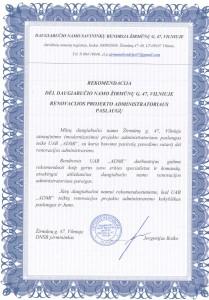 Daugiabučio namo Žirmūnų 47 savininkų bendrija_Rekomendacija