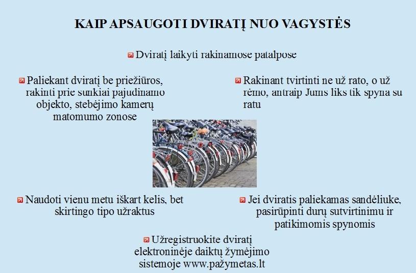Kaip apsaugoti dviratį nuo vagystės